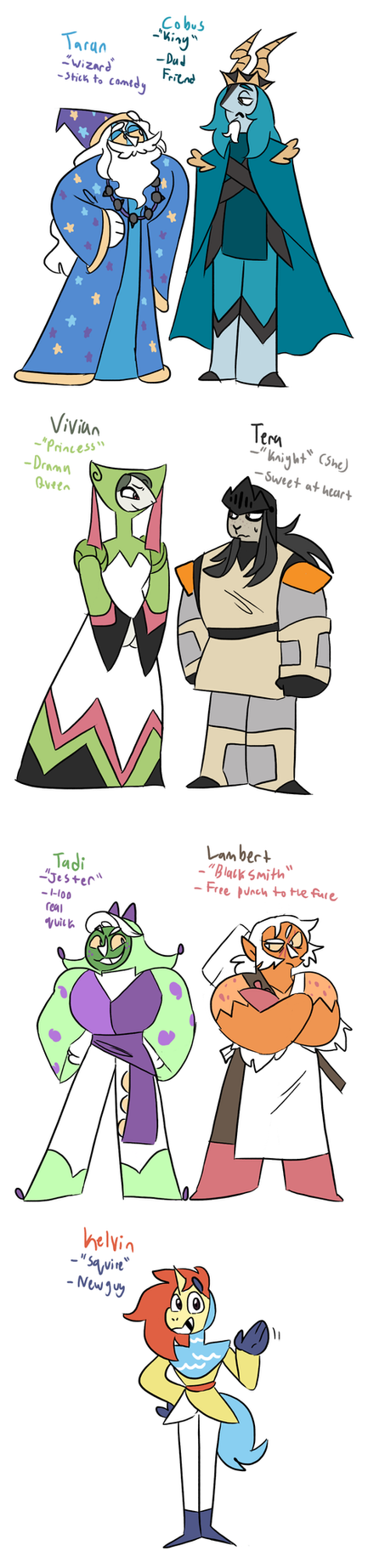 Pokekids: Medieval Times Designs by NoneToon