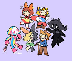 The Ol' Drawn to Life Gang by NoneToon