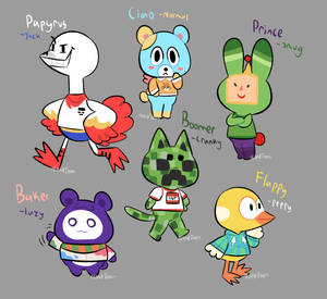 Animal Crossing Crossover Villagers