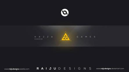 Hazza Youtube Channel Art | Raiju Designs by RaijuDesigns