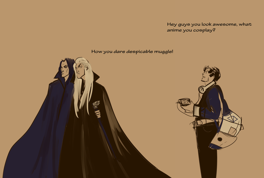 Lucius vs muggle by astairhodes