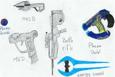 my favorites halo weapons by oktar17
