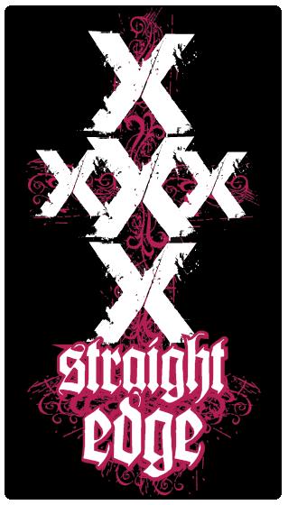 STRAIGHT XXX EDGE by XEmptyHeartsX