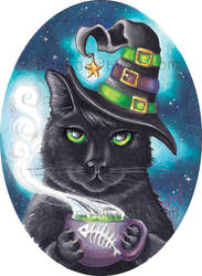Georgette, The Witch Cat by deanna23