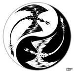 Yin Yang Dragons by ThunderingNight