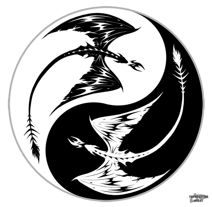 Yin Yang Dragons By Thunderingnight On Deviantart
