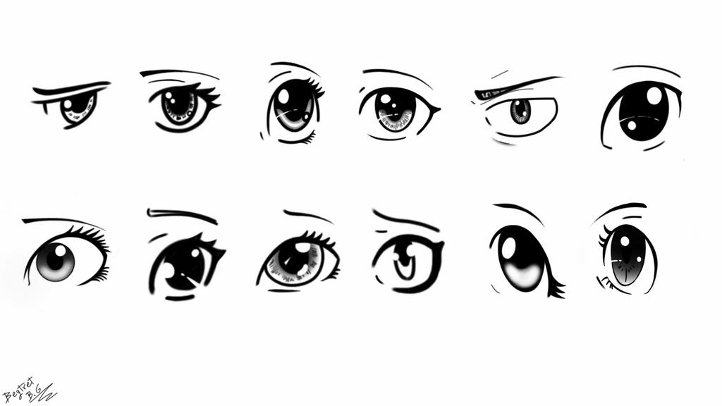 Ojos de anime by beytret