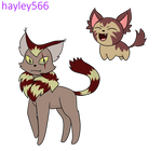 Yehawian Skitty and Delcatty by hayley566