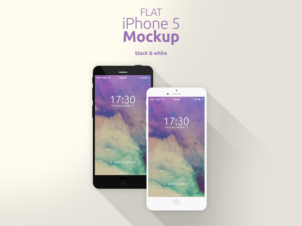 Flat iPhone 5 Mockup by Domazetov