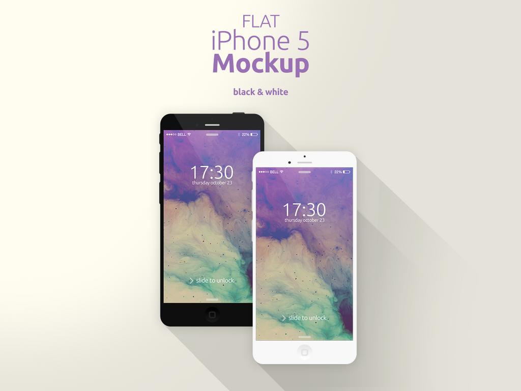 Flat iPhone 5 Mockup by Domazetov