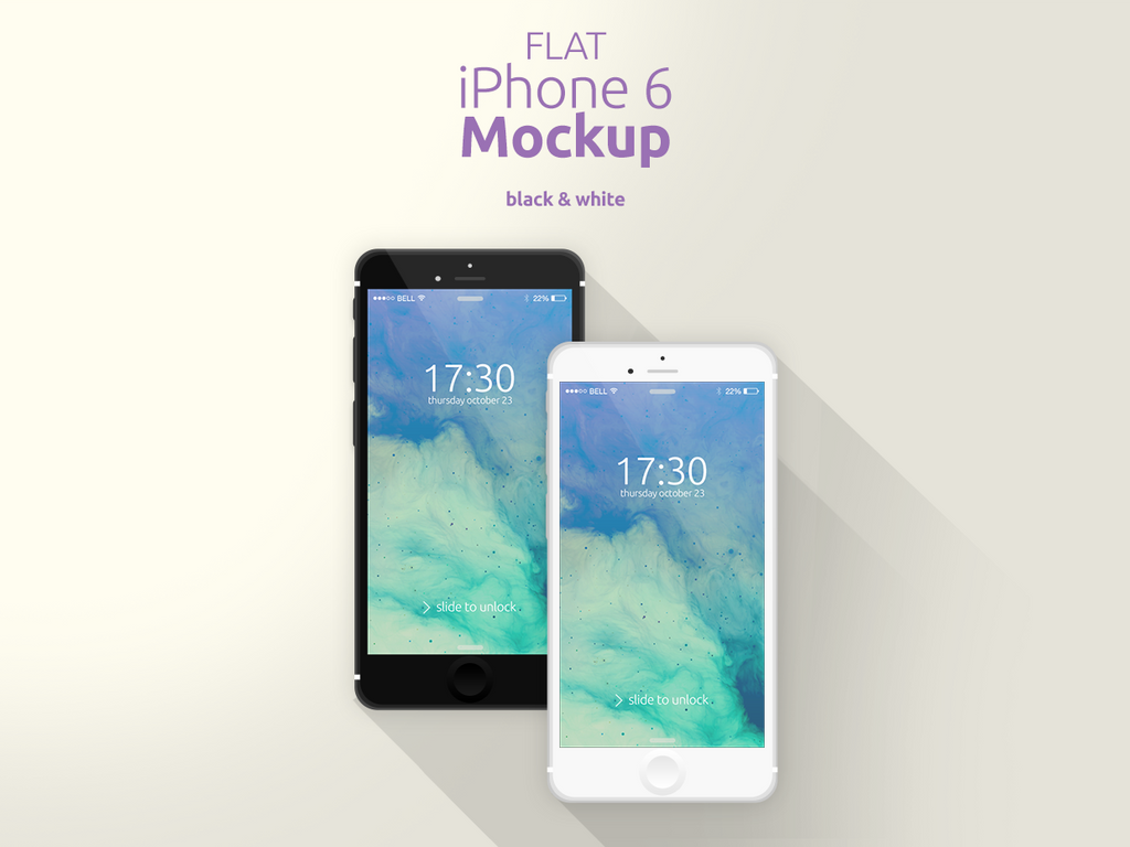 Flat iPhone 6 Mockup by Domazetov