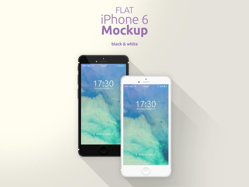 Flat iPhone 6 Mockup by Domazetov