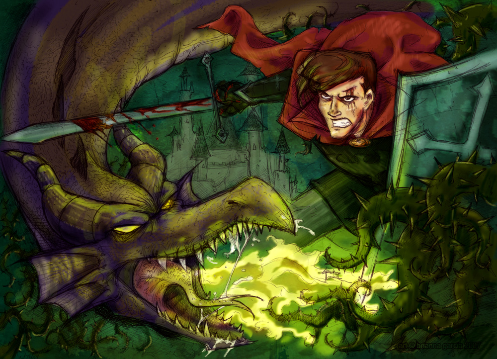 Phillip vs. Maleficent by jackieocean