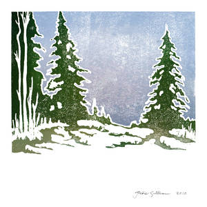 Snow and Evergreens