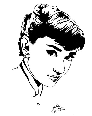 Audrey Hepburn by jackieocean