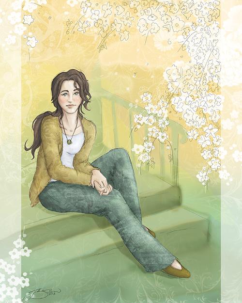 Sitting In Spring by jackieocean