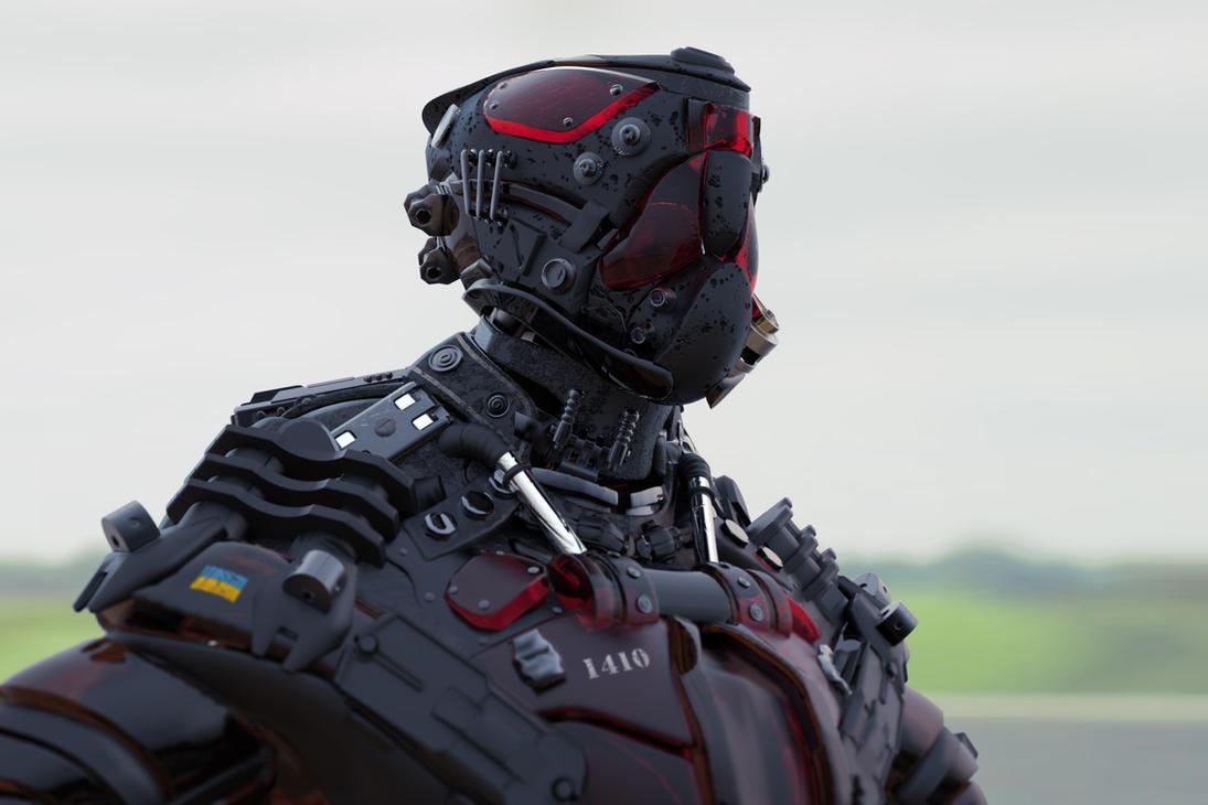Ukrainian cyborg by Borodox