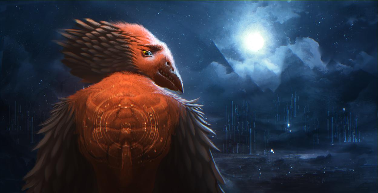 King of the dead birds. by Borodox