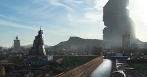 futuristic city by ResVoCoder