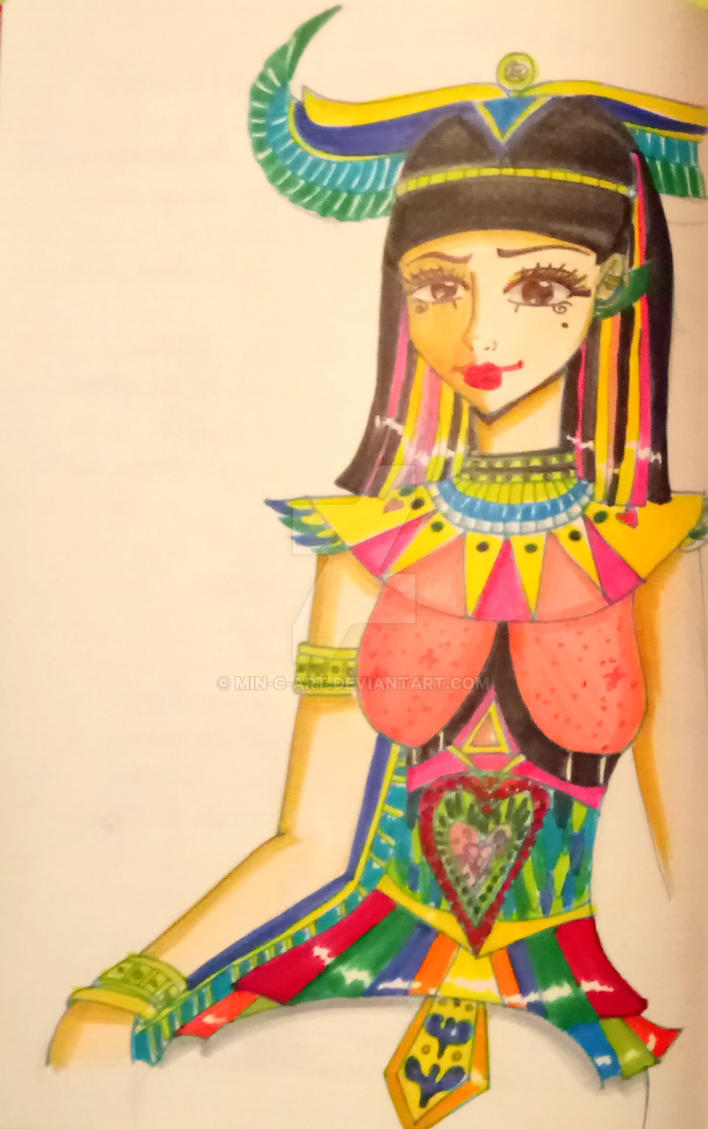 Goddess Isis by Min-C-Art