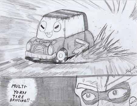 Multi Yokai Tire Drifting - Yokai Watch