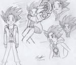 Seimei no Shan AO Character Line Art - Shinsei
