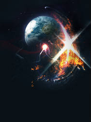 Space abstract explosion