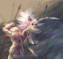 Princess Mononoke by Booshnig