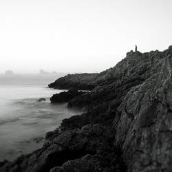 Alone on the cliff