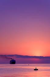 A sunrise scene
