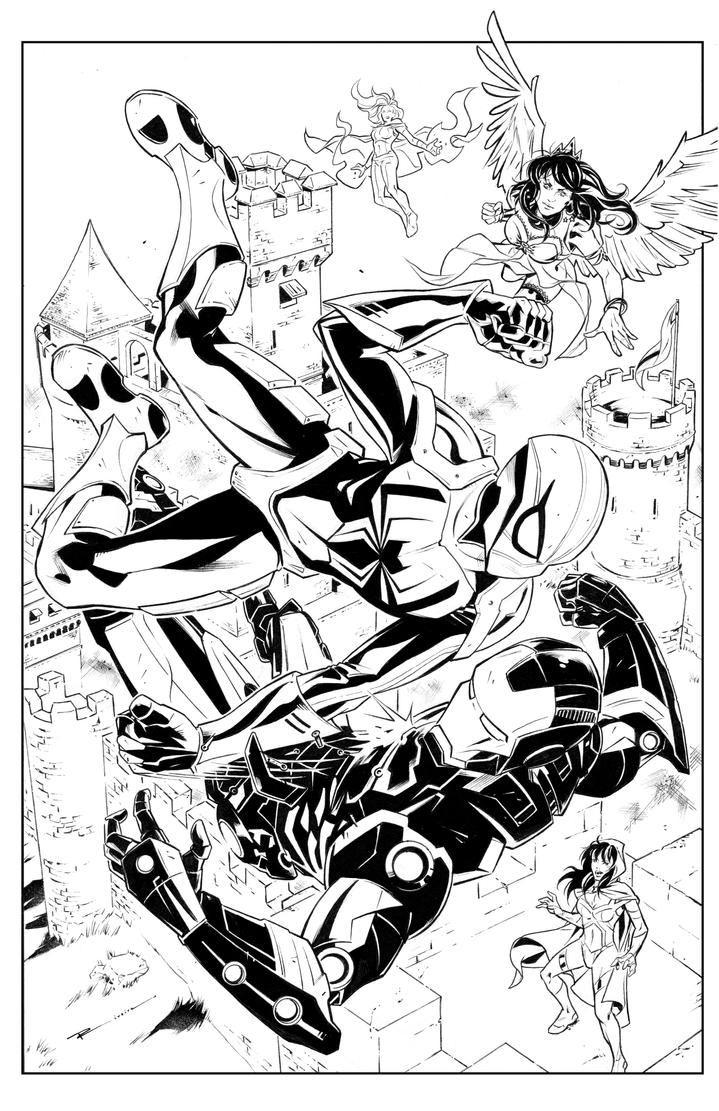 Spider-Man vs Iron Man Armored Avengers by segamarvel