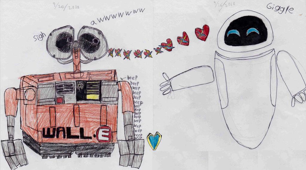 Blow Wall-E a kiss by segamarvel