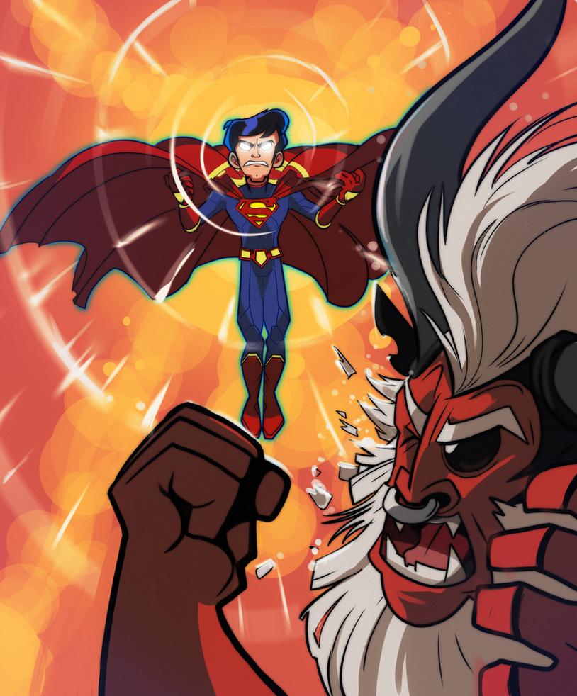 Superman vs Tirek commission by segamarvel