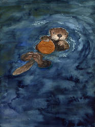 Sea Otter by sunnyfiny