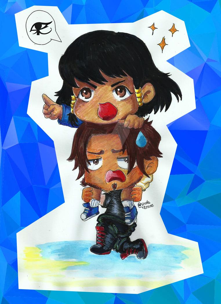 Mcree and Pharah children by YuukoKitsune