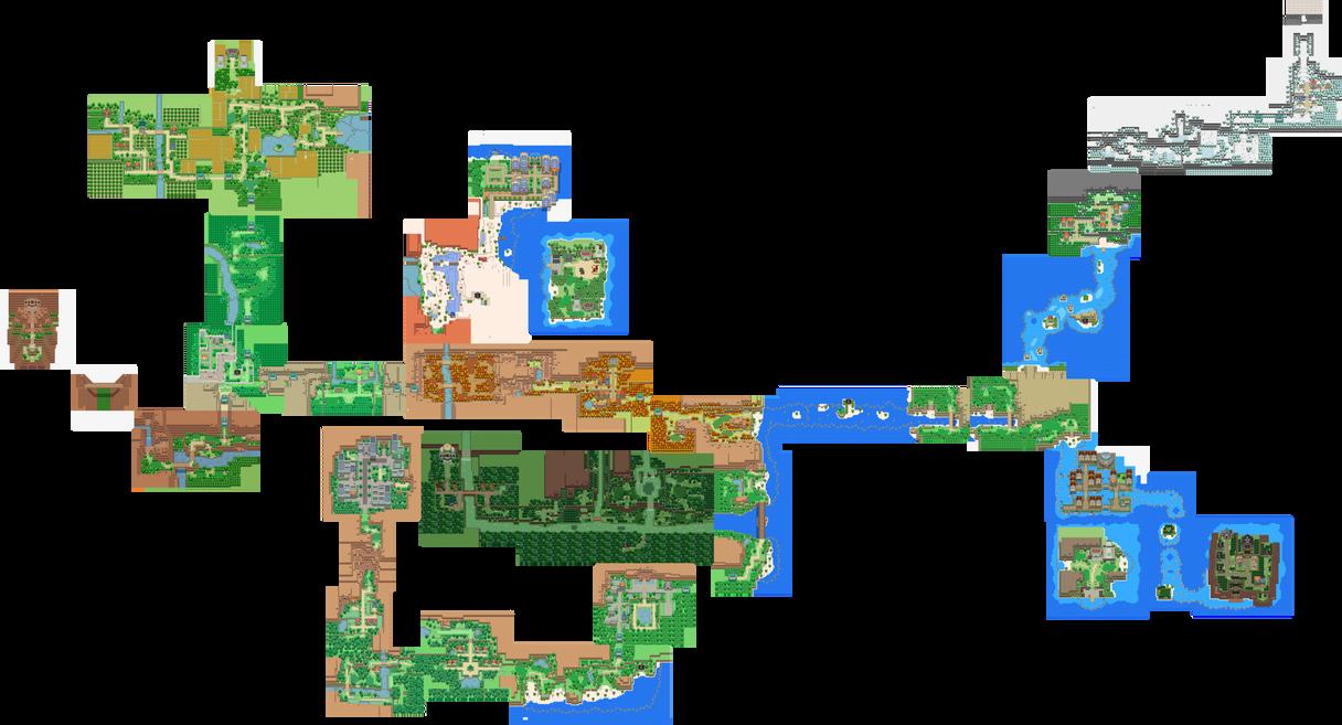 Pokemon Uranium Full Current Tandor Map by Ceredre-Drake