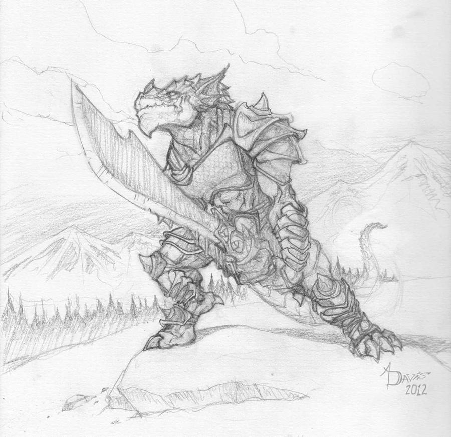 Dragonborn Fighter In The Snow By Darth-Festivus On DeviantArt