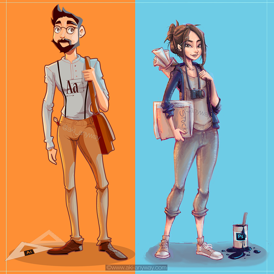 Cartoonsmart Character Design With Illustrator : Photoshop and illustrator character design by akithebonez
