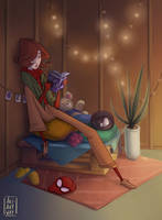Cozy Spider Girl by AkiTheBonez