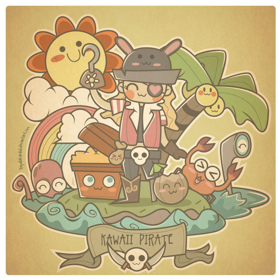 hello kawai pirate by kepalakardus d30m7d0 Astonishing Kawaii Vector Digital Art Inspiration