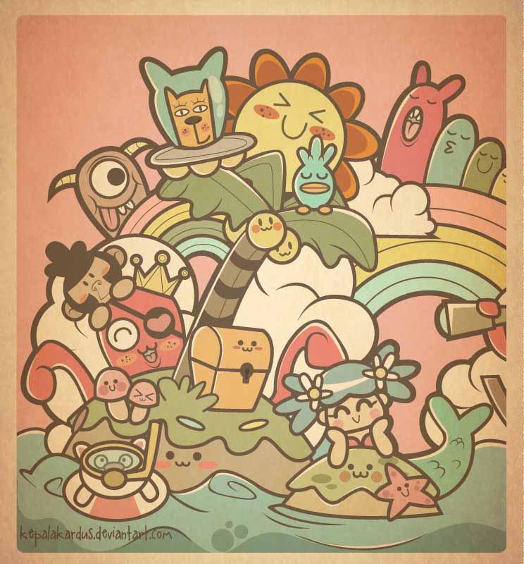 Mermaid And Friends by kepalakardus