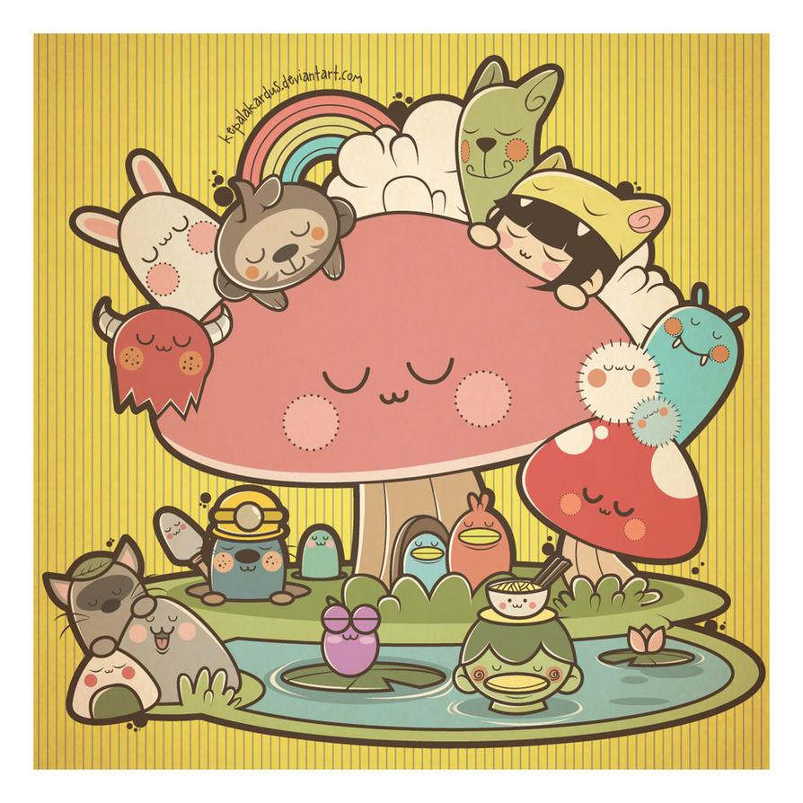 Mushroom Bed by kepalakardus