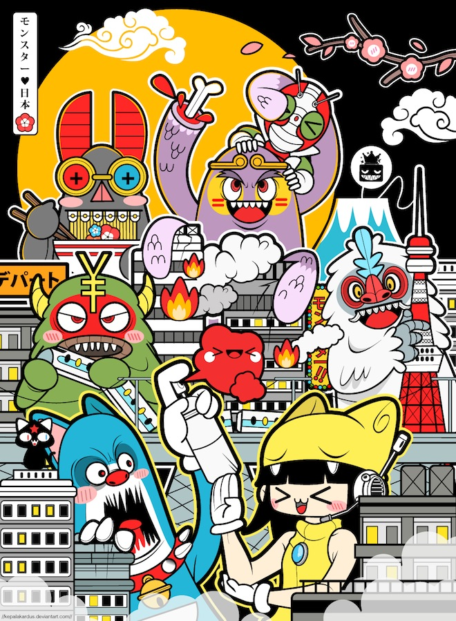 Tokyo Kaiju Funland by kepalakardus