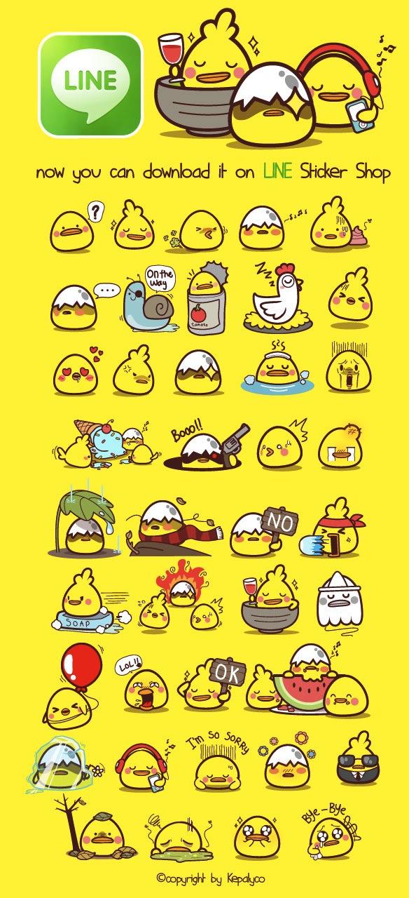 Yam-Yam Sticker Pack by kepalakardus