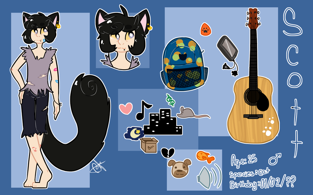 Scott - Ref Sheet by Artsy-Cam