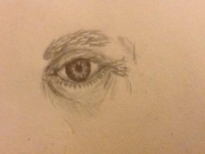I drew an eye by RawmanNoodles