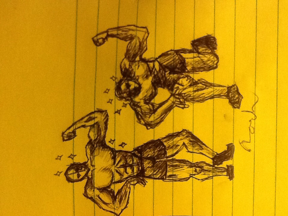 Muscle men by RawmanNoodles