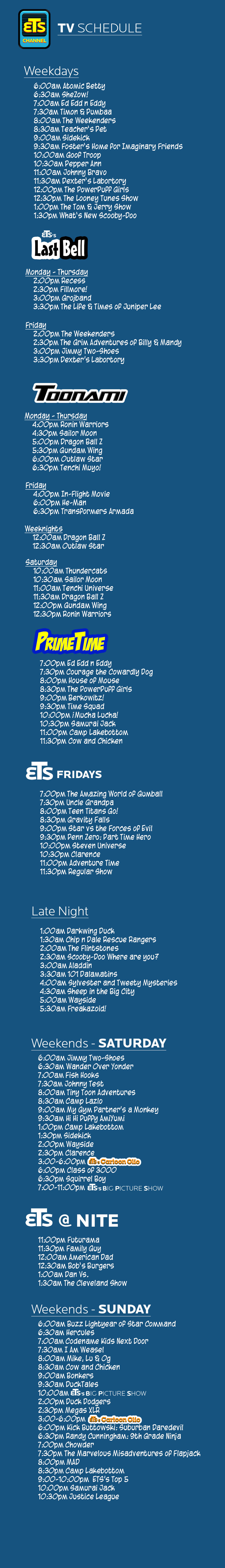 ETS Channel TV Schedule by ETSChannel on DeviantArt
