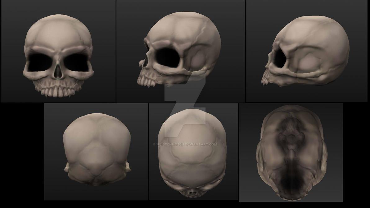 Skull render by MeistenHosen