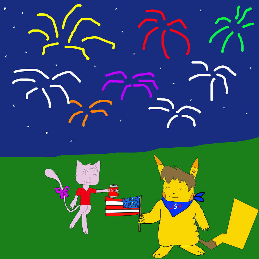 Celebrating 4th of July